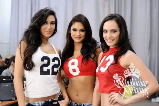 Bianca, Pia and Kris on cue