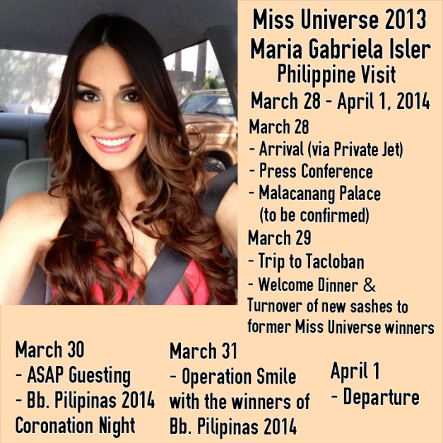 A quick look at Molly's schedule during her visit to the Philippines