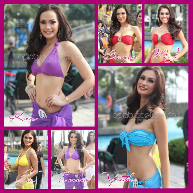 Six of the fifteen stand-outs during the Press Presentation of Bb. Pilipinas 2014 (Photo credit: Jory Rivera for OPMB Worldwide)