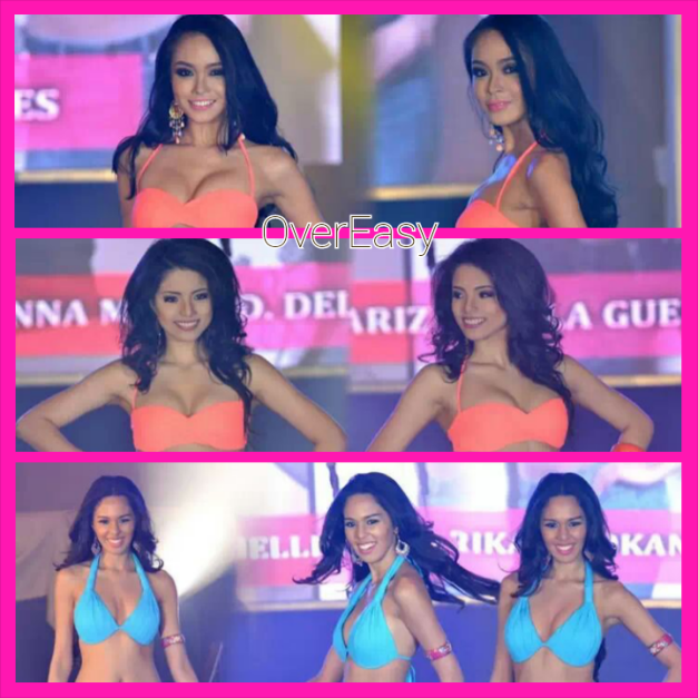 Overeasy ladies? Binibini 1 Julian Aurine Flores, Binibini 5 Hannah Mariz dela Guerra and Binibini 33 Gabrielle Tilokani during the Bb. Pilipinas 2014 Press Presentation (Photo credit: Emerson Cebanico of OPMB Worldwide)