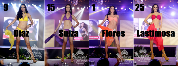 These ladies are sharing 5th-8th places on my list, but not in the order shown above (Photo credit: Bruce Casanova for Bb. Pilipinas