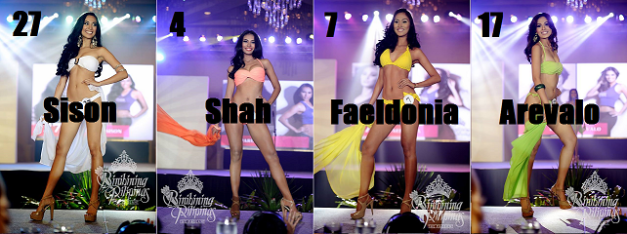 This quartet of Binibinis are currently ranked 9th-12th on my list (Photo credit: Bruce Casanova for Bb. Pilipinas)