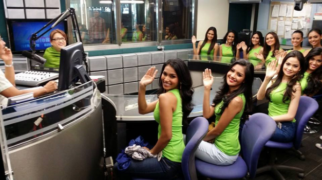 Ten (10) Binibinis guested on the DZMM radio program of Ariel Ureta and Winnie Cordero.