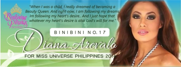 The banner above was created by Binibini 17 Diana Arevalo's most loyal and hardworking fans and supporters on Facebook.