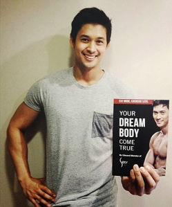 Edward promoting his first fitness book