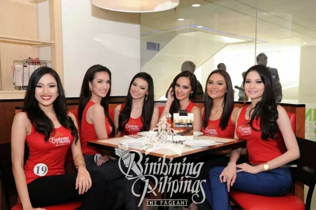 (L-R) Binibinis 19, 15, 14, 13, 16 and 23 share a table