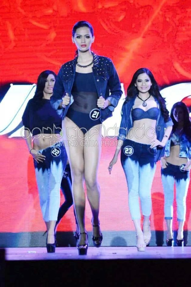 But my #1 Favorite in this segment didn't even wear jeans. Racquel Kabigting went for a denim jacket that made her rock the stage even more. (Photo credit: Edmund Chua for OPMB Worldwide)