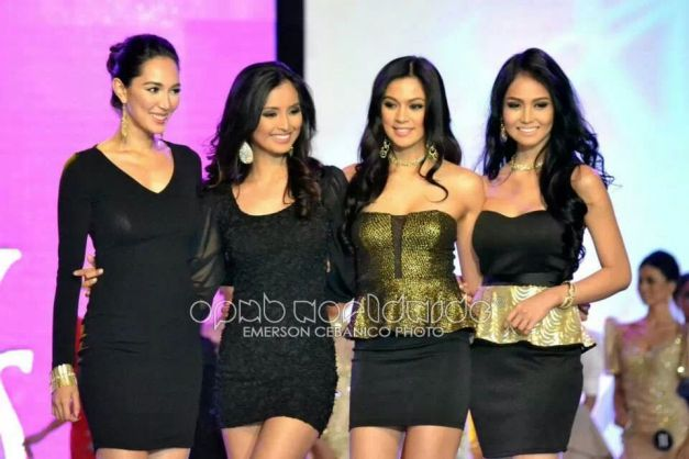 (Left to right) Bea Rose, Mutya, Ara and Cindy during last Thursday's fashion event (Photo credit: Emerson Cebanico for OPMB Worldwide)