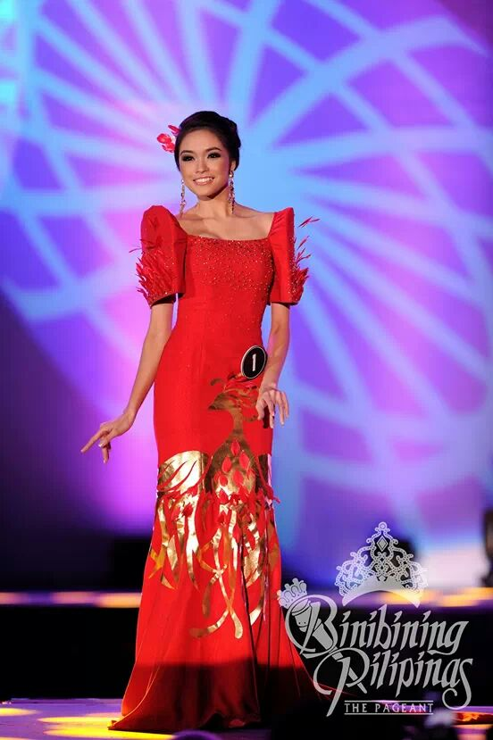 Binibini 1 Julian Aurine Flores wearing Albert Andrada during the National Costume Competition (Photo credit: Bruce Casanova for Bb. Pilipinas)
