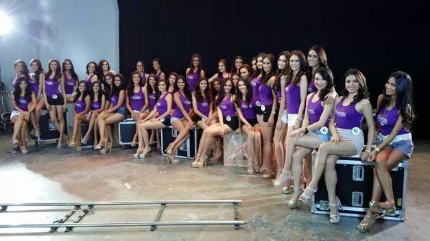 The Bb. Pilipinas 2014 Official Candidates inside one of ABS-CBN's studios