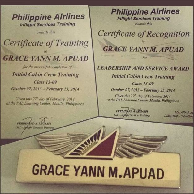 The proof is in the official name tag for Grace Yann Apuad.