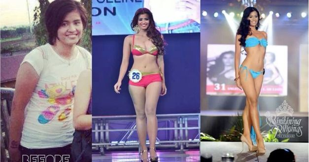 The evolution of a tomboyish 180-pounder to your Binibini 31. That's Angelique!