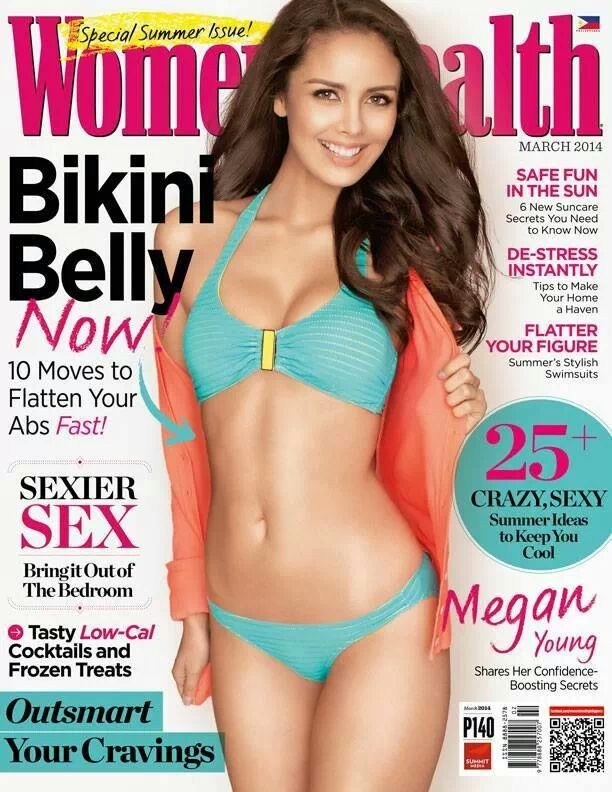 Miss World 2013 Megan Young graces the cover of Women's Health Summer Issue.