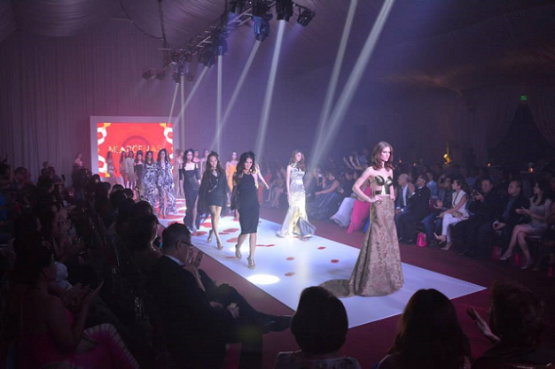 Mia's creations on the runway at Cebu's Oakridge Pavilion.