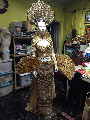 A sneak peek of Parul Shah's National Costume by Edwin Uy