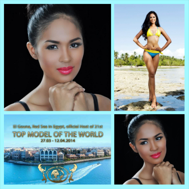 After Miss Scuba International, Janicel Lubina will now represent the Philippines in Top Model of the World 2014 in Egypt.