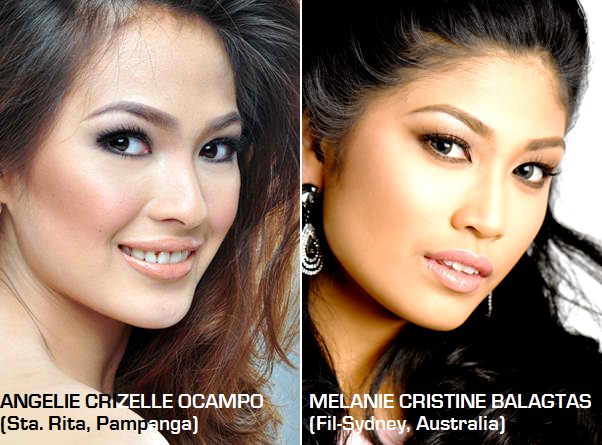 Two of the five Aces & Queens' bets for Miss Philippines Earth 2014