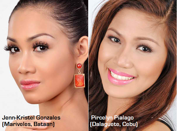 Two of the several Kagandahang Flores bets for Miss Philippines Earth 2014
