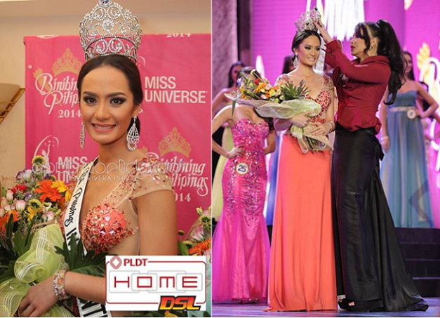 Bb. Pilipinas-Intercontinental 2014 Kris Tiffany Janson and her somewhat ill-fitting crown (Photo credit: Jory Rivera for OPMB Worldwide