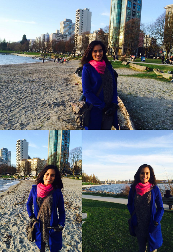 Bb. Pilipinas Gold alumna Charmaine Elima enjoys travelling and working with PAL. Above photos are taken in Canada. (Photo credit: Larry Elima)