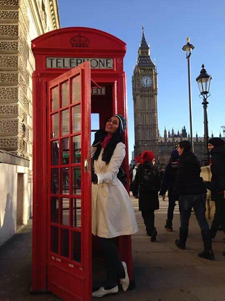 Maine sightseeing in London on a rest day from PAL