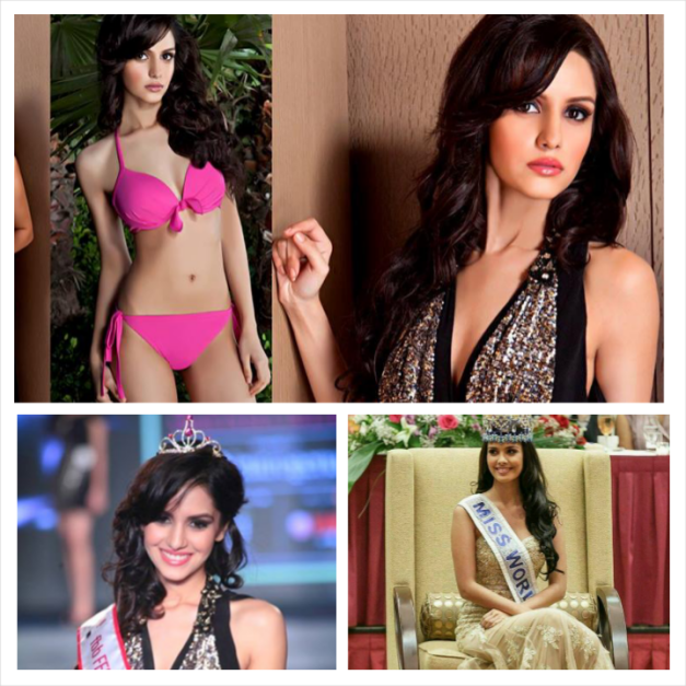 MW2013 Megan Young (bottom, right photo) helped judge and crown Miss India 2014 Koyal Rana