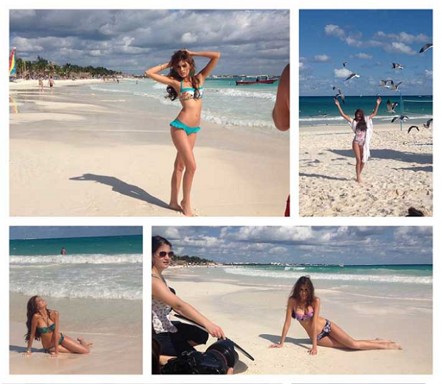 Stills from the Cancun photoshoot with Molly