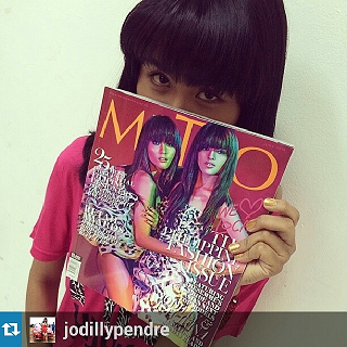 Jodilly proudly showing off the Metro cover.