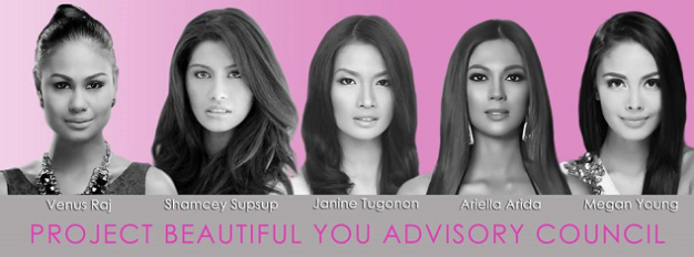 The five (5) golden-hearted ladies who will serve as advisers of Project: Beautiful You
