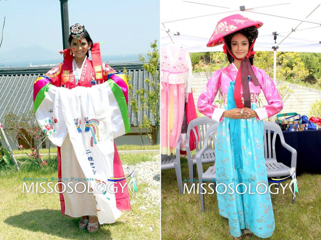 Hillarie and May in Korean traditional get-ups