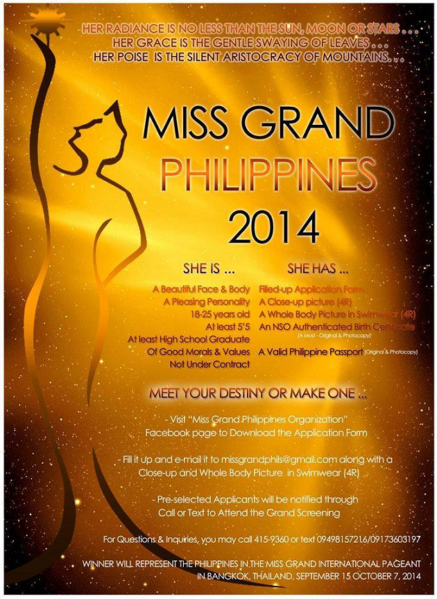 How to apply for miss grand philippines 2014 normannorman yelopaper Gallery