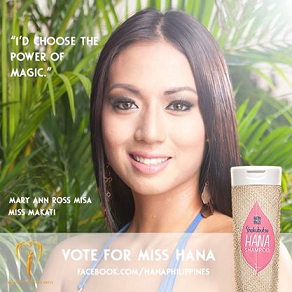Click on the image of Ross Misa if you want to vote for her