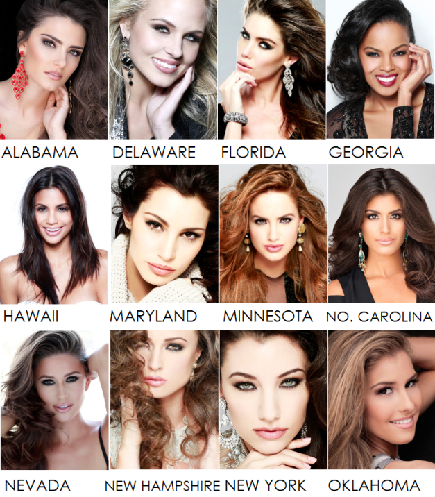 My Fifteen Favorites for Miss USA 2014