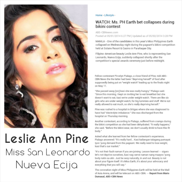Leslie Ann Pine and the news report from abscbnnews.com