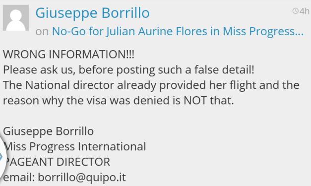 The response of Giuseppe Borillo