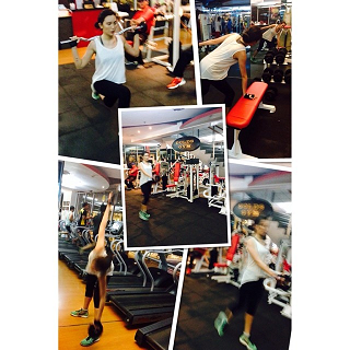 Bianca's resistance training with John Cuay