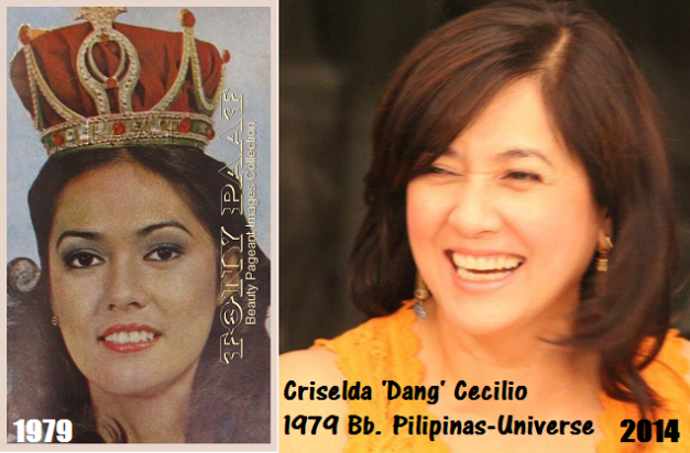 The before-and-now pics of our rep during Miss Universe 1979. (Photo credit for the Before pic: Tony Paat and for the Now pic: Dang Cecilio)