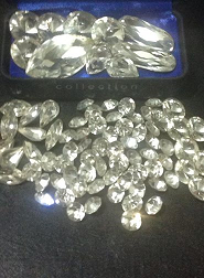The gems (which just arrived from the US) that will be used to adorn the crown of Miss Grand Philippines 2014.