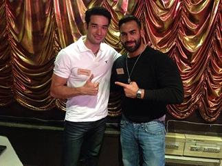 John (left) with Mr. Lebanon Ayman Mousa