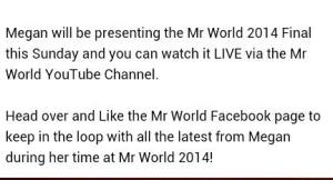 Click above to access the YouTube channel of Mr. World