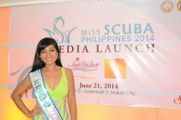 Miss Scuba International 2013 1st Runner-Up Christine Paula Love Barnasor during the Media Launching of Miss Scuba Philippines 2014 (Photo credit: OPMB Worldwide)