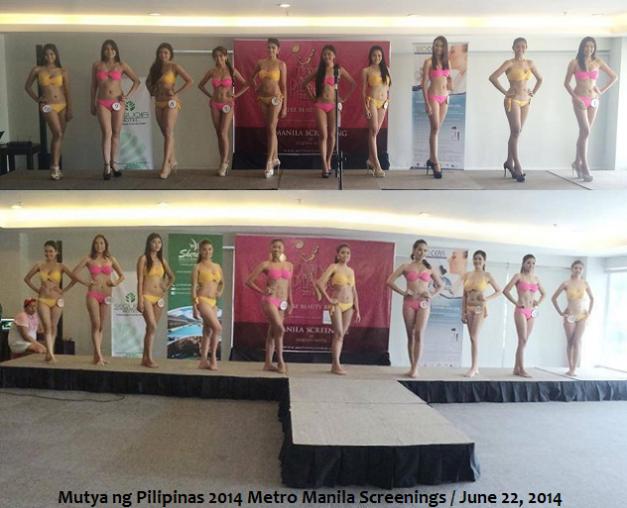 The ladies who took part in the Metro Manila screenings of Mutya ng Pilipinas 2014