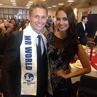 Nicklas (left) will be the new travel partner of Miss World 2013 Megan Young and the next Miss World.