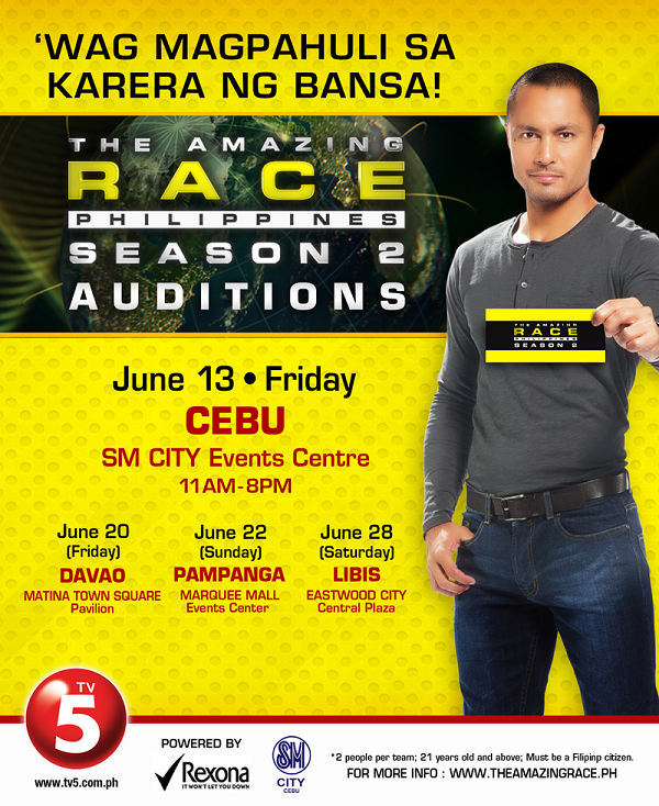 While the Cebu auditions are now over, the ones for Davao, Pampanga and  Libis will be happening this coming weekend.