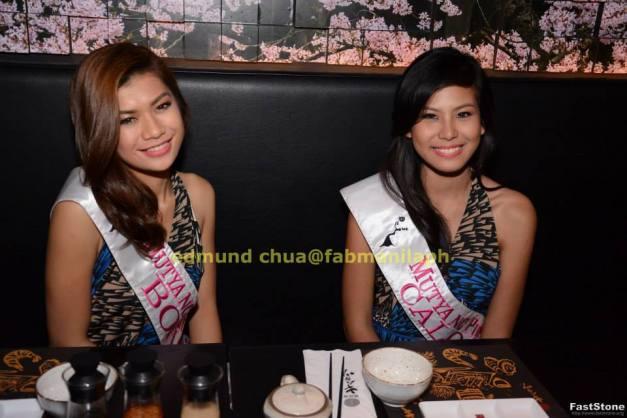 Mutya ng Bohol Candie Cumayas (left) and Mutya ng Caloocan City Yesley Cabanos