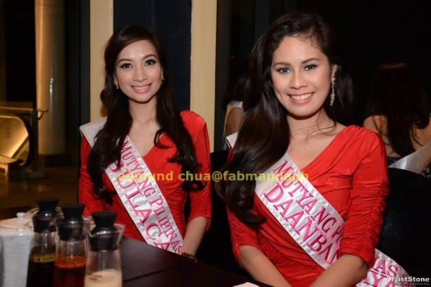 Mutya ng Bulacan Nickah dela Cruz (left) and Mutya ng Daanbantayan Aivy Mae Roselle Castro