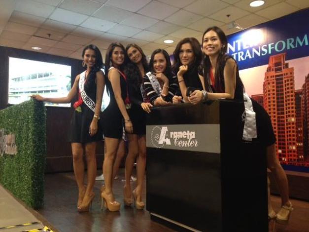 Bb. Pilipinas 2014 Queens (l-r): Parul Shah, MJ Lastimosa, Yvethe Santiago, Kris Janson, Bianca Guidotti and Laura Lehmann.