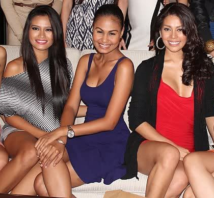 (L-R): Janine Tugonon, Venus Raj and MJ Lastimosa when all three ladies were still under Aces & Queens.