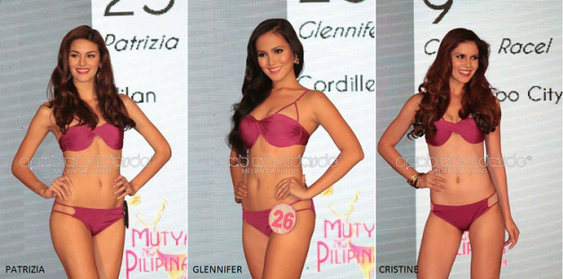 Patrizia Bosco, Glennifer Perido and Cristine Racel: sure to take the top-tier placements in Mutya ng Pilipinas 2014? (Photo credit: Melvia Sia for OPMB Worldwide)