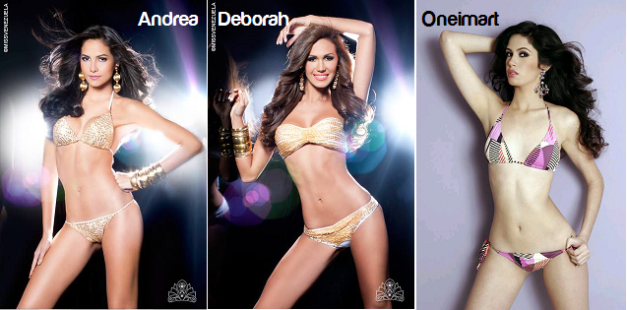 My three favorites to win Miss World Venezuela 2014.
